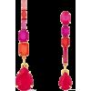 ELIZABETH COLE 24-karat gold-plated crys - Earrings -
