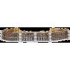 ELIZABETH COLE 24-karat gold-plated crys - Necklaces -