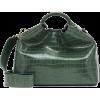 ELLEME Raisin croc-effect shoulder bag - Hand bag -