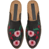 EMBROIDERED JUTE MULES - Loafers -