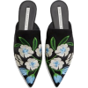 EMBROIDERED MULES - Loafers -