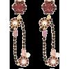 ERDEM  Crystal-embellished floral-drop o - Brincos -