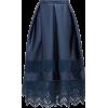 ERDEM Jennifer guipure lace-trimmed midi - Skirts -
