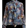 ERDEM  Lucien Gertrude-print silk voile - Hemden - lang -
