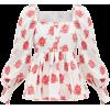 ERDEM Noria balloon-sleeve rose fil coup - Long sleeves shirts -