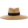 ERIC JAVITS grosgrain straw hat - 有边帽 -