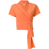 ETRO bow tie wrap blouse orange - Srajce - kratke - $670.00  ~ 575.45€
