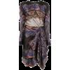 ETRO printed draped asymmetric dress - Vestidos -