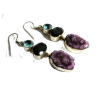 Earrings Polished Amethyst Geodes - Earrings - $25.00