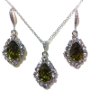 Earrings With Necklace - Aretes -
