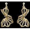 Earrings in 18K yellow gold with diamond - Earrings -