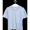 Easy Crop Tee in Baker Stripe - Shirts - kurz - $39.50  ~ 33.93€