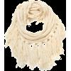 Echo Design Women's Chunky Merino Neck Ring with Fringe Vanilla - Scarf - $34.00