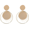 Eden Geo Circles Drop Earrings - イヤリング -