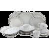 Elama Fleur De Lys 20-Piece Dinnerware - Uncategorized - $55.71
