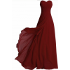 Elegant Burgundy Strapless Dress - Vestidos - $150.00  ~ 128.83€
