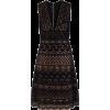 Elie Saab Black Lace-Overlay Dress - Dresses -