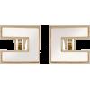 Elisabetta Franchi  Earrings with logo - Earrings - 93.00€  ~ $108.28
