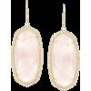 Ellen Drop Earrings in Rose Quartz - Earrings -