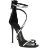 Embellished Black Heels - Sandals -