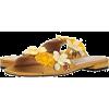 Embellished Slide Sandal - Sandals - $275.00