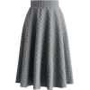 Embossed Gingham A-line Skirt chicwish - Skirts -