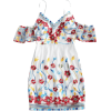Embroidered Mini Dress - Dresses -