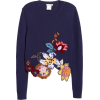 Embroidered Floral Asymmetrical Hem Wool - Pullovers -