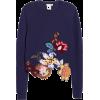 Embroidered Floral Asymmetrical Hem Wool - Puloveri -
