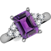 Emerald Cut Amethyst Ring - Rings - $679.00