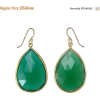 Emerald Green Earrings - Naušnice -
