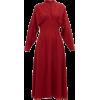 Emilia Wickstead's claret-red dress - Vestidos -