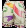 Emilio Pucci Ivory and Multi Silk Print - Shorts -