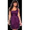 Empire Rose Detailed One Shoulder Party Prom Mini Dress Purple Intricate Blossom - Haljine - $38.99  ~ 33.49€