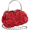 Enormous Rosette Roses Framed Clasp Evening Handbag Clutch Purse Convertible Bag w/Hidden Handle, Shoulder Chain Red - Bolsas com uma fivela - $39.99  ~ 34.35€