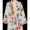 Etro Floral-print satin wrap jacket Jacket - coats - Jacket - coats -