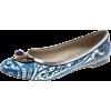 Etro blue paisley ballet flats - Balerinke -