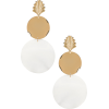 Ettika Seashell Drop Earrings im Gold & - Серьги -