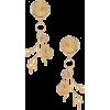 Ettika Shell & Coral Earring im Gold | R - Earrings -