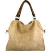 Everyday Free Style Beige Tan Soft Embossed Ostrich Double Handle Oversized Hobo Satchel Purse Handbag Tote Bag Beige - Bolsas pequenas - $29.50  ~ 25.34€