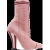 FENDI Metallic stretch-knit sock boots £ - Uncategorized -