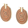 FENDI FF karligraphy engraved earrings - 耳环 -