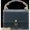 FENDI Kan I Small leather shoulder bag - ハンドバッグ -