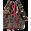 FENDIMon Trésor embossed leather bucket - Kleine Taschen -