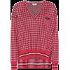 FENDI Plaid silk sweater - Pullovers - $1,290.00