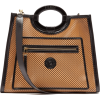 FENDI Runaway medium cut-out leather tot - Messenger bags -