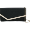 FENDI green logo velvet wallet on chain - Clutch bags -