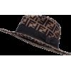 FENDI grosgrain-trimmed logo-print hat - Hat -