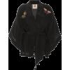 FIGUE black embellished kimono jacket - Kurtka -