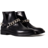 FLAT LEATHER ANKLE BOOT WITH C - 靴子 -